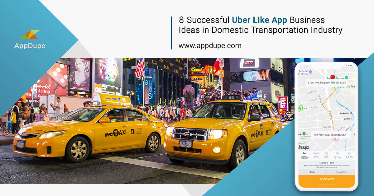 Successful Uber like app business ideas