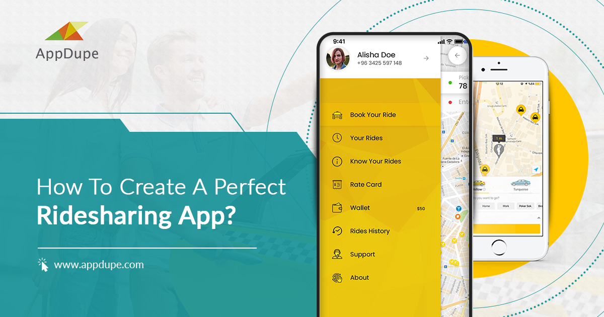 create ride sharing app