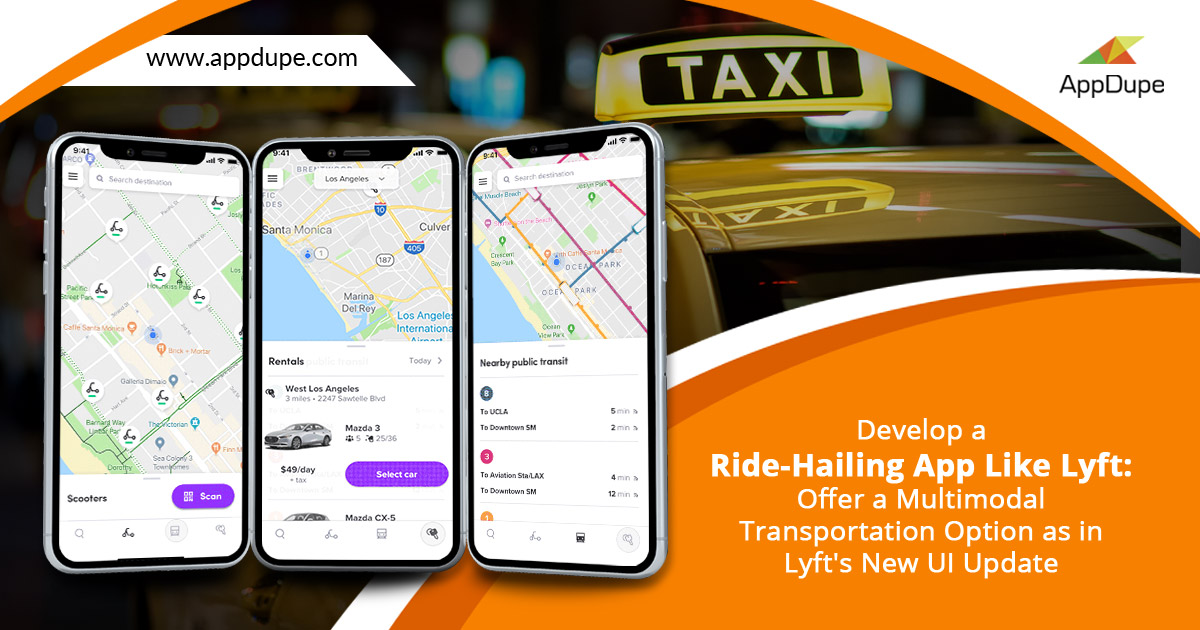 Develop app like Lyft