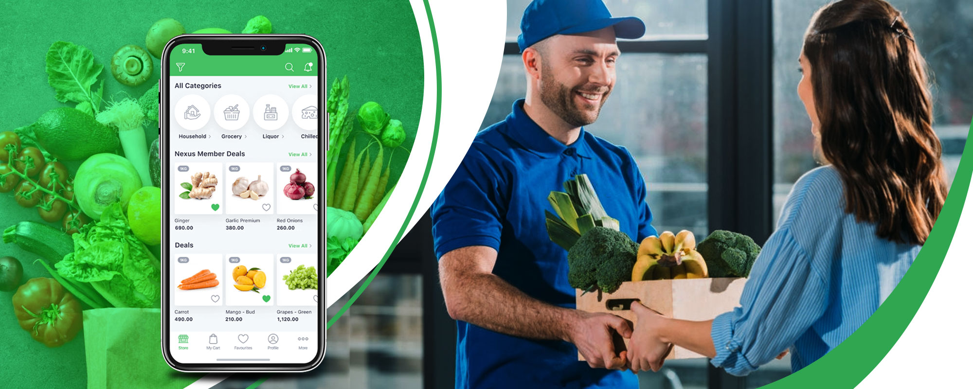 Launch app like Instacart