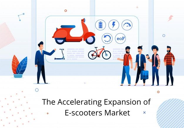 The accelerating expansion of the e-scooters market