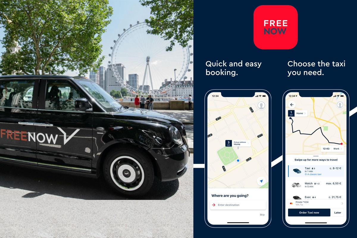 free now taxi app