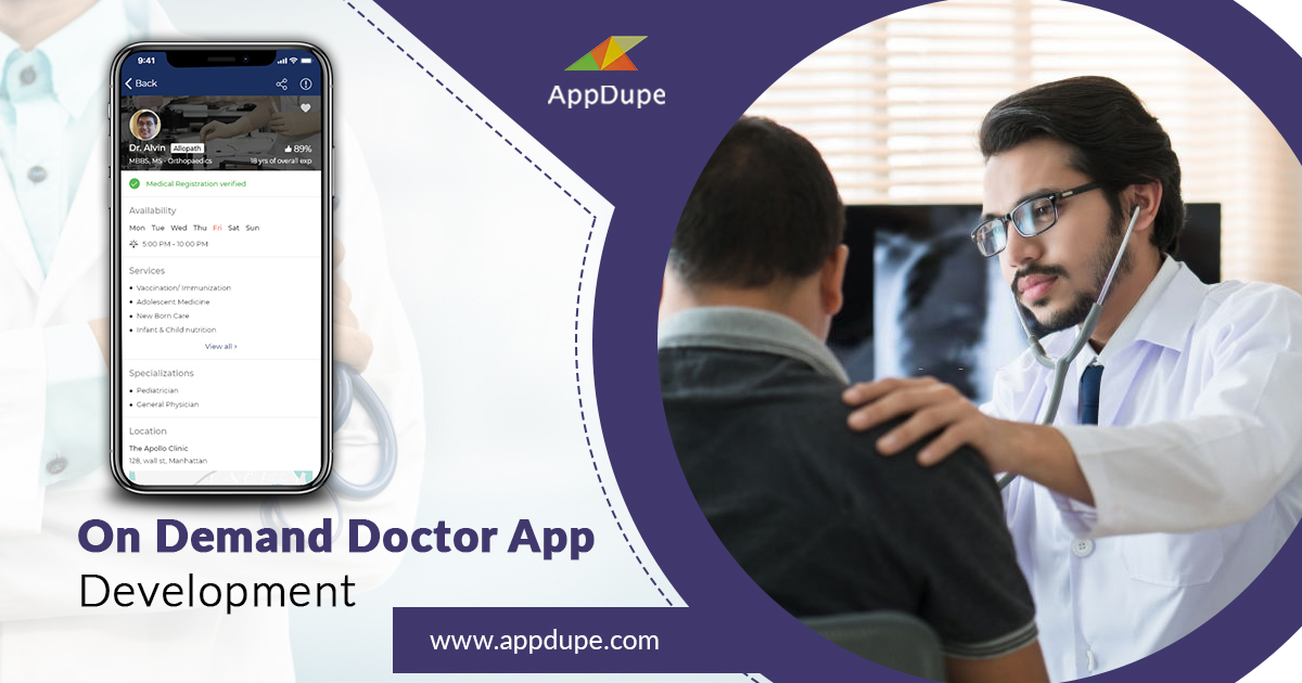 Uber for doctors | On-demand doctors app development | uber for doctors appointment app