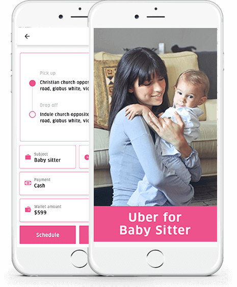 uber for babysitters app development