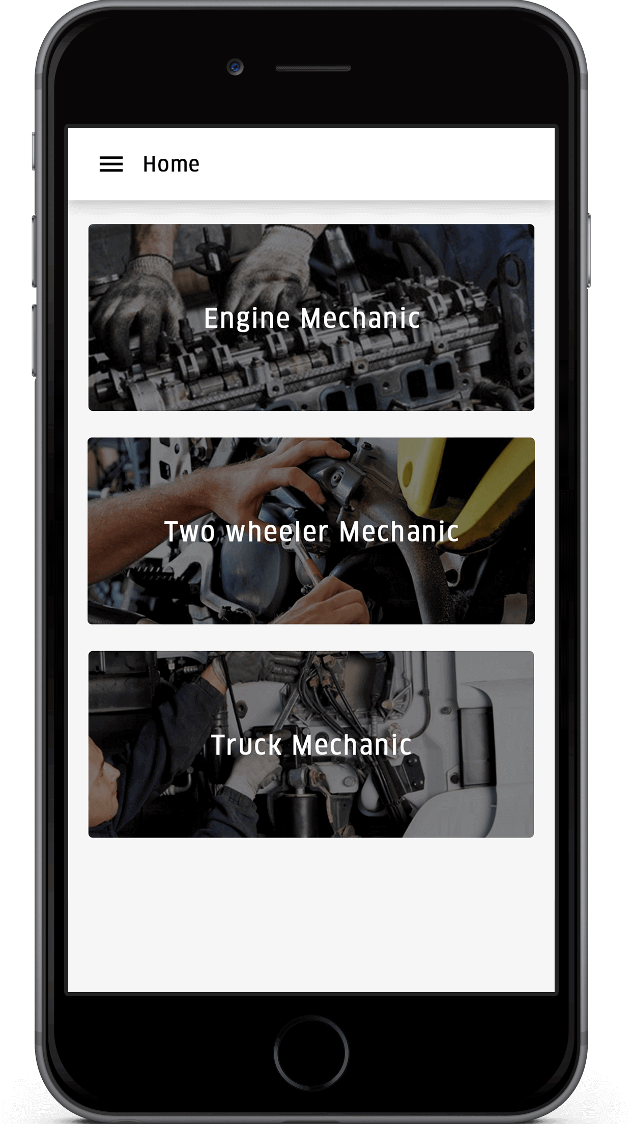 on demand mechanics services app